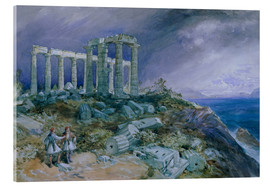 Acrylglas  Der Tempel des Poseidon, Sunium, 1877 - William 'Crimea' Simpson