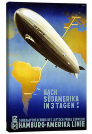 Leinwandbild  Hamburg Amerika Linie - Graf Zeppelin - Travel Collection