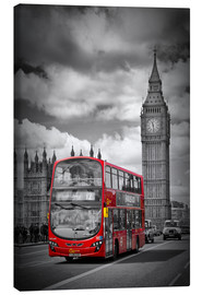 Leinwandbild  LONDON Red Bus and Big Ben - Melanie Viola
