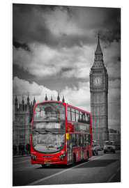Hartschaumbild  LONDON Red Bus and Big Ben - Melanie Viola