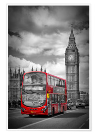 Premium-Poster LONDON Red Bus and Big Ben