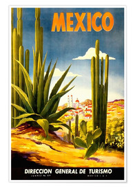 Premium-Poster  Mexiko-Kaktus - Travel Collection