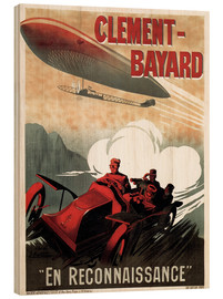 Holzbild  Clement Bayard Automobile - Advertising Collection