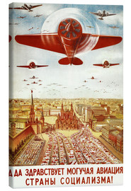 Leinwandbild  Flugzeugparade über Moskau - Advertising Collection