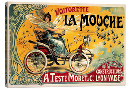Leinwandbild  Voiturette La Mouche - Advertising Collection
