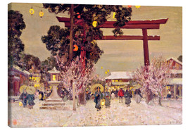 Leinwandbild  Blick auf Shinto Shrine, c.1889 - Sir Alfred East