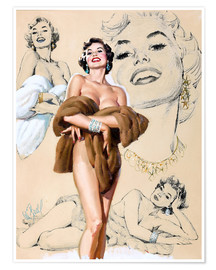 Poster  Glamour Pin Up-Studie - Al Buell
