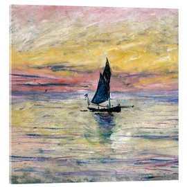 Acrylglas  Segelboot am Abend - Claude Monet