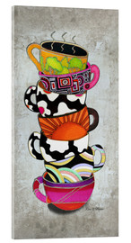 Acrylglas  Stacked Hot Cuppa Collection 1 - Megan Duncanson