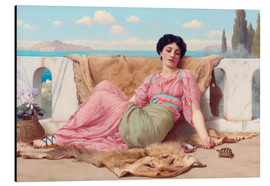 Alubild  Ein ruhiges Haustier - John William Godward