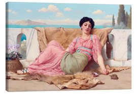 Leinwandbild  Ein ruhiges Haustier - John William Godward