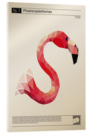 Acrylglas  fig3 Polygonflamingo Poster - Labelizer