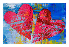 Premium-Poster  Colorful Love - Andrea Haase