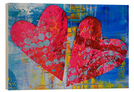 Holzbild  Colorful Love - Andrea Haase