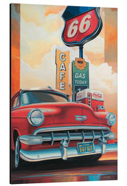 Alu-Dibond  Route 66 Cafe - Georg Huber