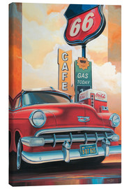 Leinwandbild  Route 66 Cafe - Georg Huber