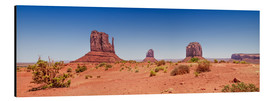 Alubild  Monument Valley USA Panorama I - Melanie Viola