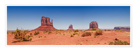 Premium-Poster Monument Valley USA Panorama I