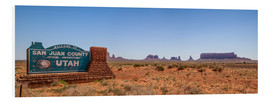 Hartschaumbild  Monument Valley USA Panorama III - Melanie Viola