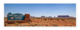 Premium-Poster Monument Valley USA Panorama III