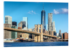 Acrylglasbild  New York: Brooklyn Bridge und World Trade Center - Sascha Kilmer