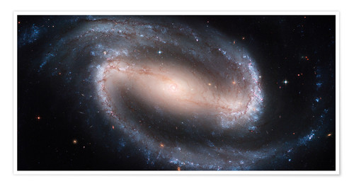 Premium-Poster Barred Spiral Galaxie NGC 1300
