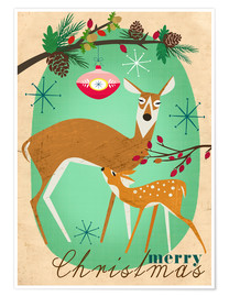 Premium-Poster Merry Christmas Deer