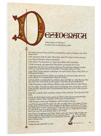 Hartschaumbild  Desiderata - Version Deutsch 2 - Dirk h. Wendt