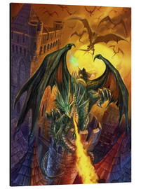 Alu-Dibond  Veldspars Angriff - Dragon Chronicles