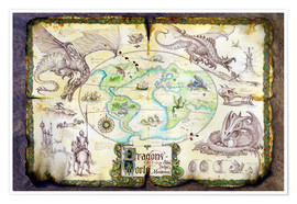 Poster  Karte der Drachen - Dragon Chronicles