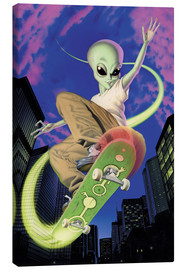 Leinwandbild  Alien Skateboarder - Alien Invasion