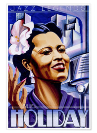 Premium-Poster Billie Holiday