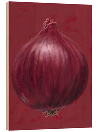 Holzbild  Red onion - Brian James