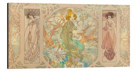 Alfons Mucha - Panel-Grafik-Collage