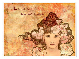 Poster Rose, Collage