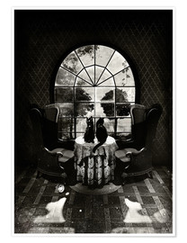 Premium-Poster  Room Skull, black and white - Ali Gulec