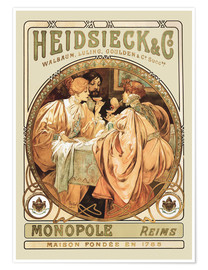 Poster  Heidsieck Champagner - Alfons Mucha