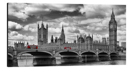 Alubild  LONDON Westminster Bridge Panorama - Melanie Viola