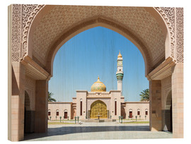 Holzbild  Moschee in Muscat, Oman - Matteo Colombo