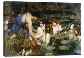 Leinwandbild  Nymphen - John William Waterhouse