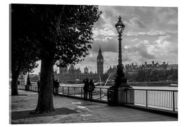Acrylglasbild  London an der Themse Big Ben monochrome - Filtergrafia