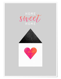 Premium-Poster  Home Sweet Home - Elisabeth Fredriksson