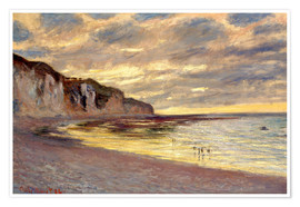 Poster  Ebbe bei Pointe de L'Ailly - Claude Monet
