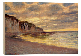 Holzbild  Ebbe bei Pointe de L'Ailly - Claude Monet