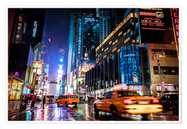 Sascha Kilmer - Broadway by night - New York City