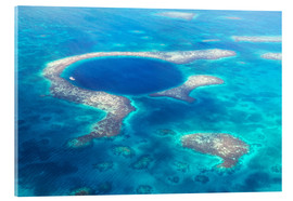 Acrylglasbild  Great Blue Hole, Belize - Matteo Colombo
