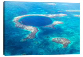 Leinwandbild  Great Blue Hole, Belize - Matteo Colombo