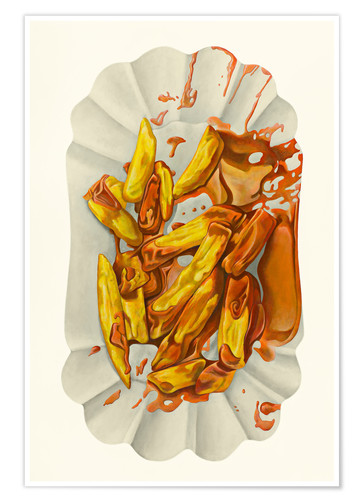 Poster Pommes mit Ketchup