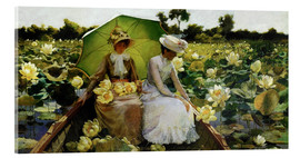 Acrylglas  Lotosblumen - Charles Courtney Curran