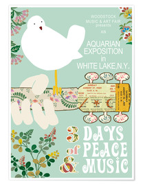 Premium-Poster  Woodstock in Mint - GreenNest